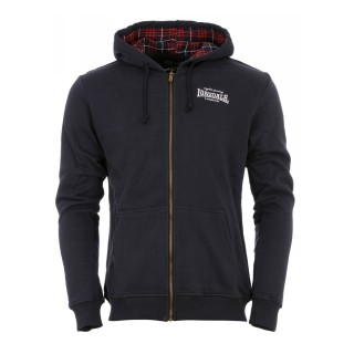 FLETHER MENS HOODED ZIPSWEAT NAVY