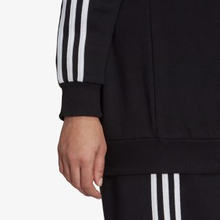 adidas ESSENTIALS 3-STRIPES FLEECE SWEATSHIRT (PLUS)
