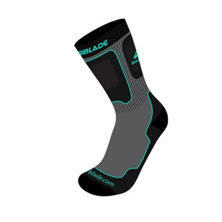 ROLLERBLADE Čarape PERFORMANCE W SOCKS GREY/WATER GREEN