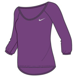 NIKE Majica DF COOL BREEZE 3/4 SLEEVE