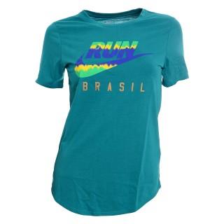 NIKE Majica RUN P W BRAZIL FLAG TEE