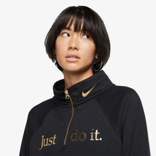 NIKE W NSW FUNNEL 1/2 ZIP BB SHINE