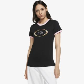 NIKE Nike FEMME WOMEN'S RINGER T-SHIRT. NIKE LU