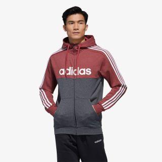 adidas adidas MENS ESSENTIALS COLOUR BLOCK HOODED TRACKTOP