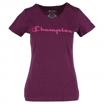 CHAMPION LADY LOGO V NECK  T-SHIRT