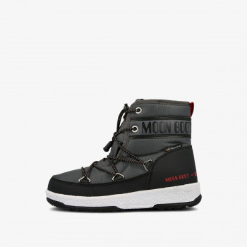MOON BOOT MOON BOOT JR BOY MID WP BLACK-CASTLEROCK