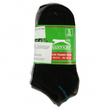 SLAZENGER 5PK TRAINER SOCK00 BRIGHT ASST CHD C8