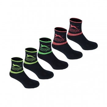 5PK CREW SOCK00 BRIGHT ASST JUNIOR 1-6