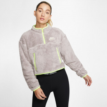 NIKE W NSW FLC QZ CROP PLUSH
