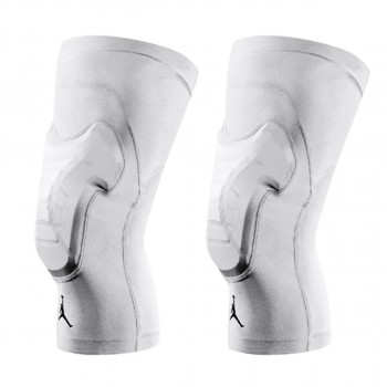NIKE JORDAN PADDED KNEE SLEEVES S/M WHITE/BLA