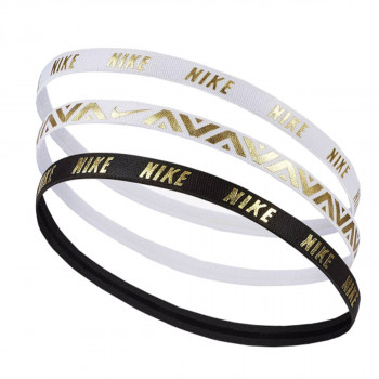 NIKE NIKE METALLIC HAIRBANDS 3 PACK WHITE/WHI