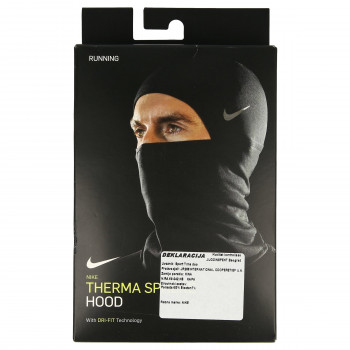 NIKE NIKE RUN THERMA SPHERE HOOD 2.0 BLACK/SI