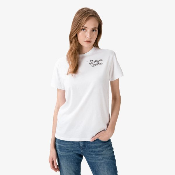 CONVERSE STRONGER TOGETHER RELAXED TEE WHITE