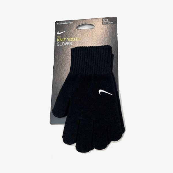 NIKE YA SWOOSH KNIT GLOVES 2.0 BLACK/WHI