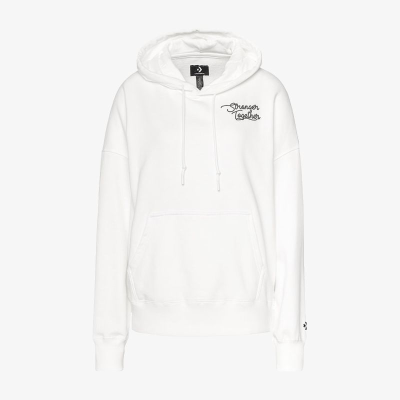 CONVERSE CONV WMN STRONGER TOGETHER OS HOODIE WHT