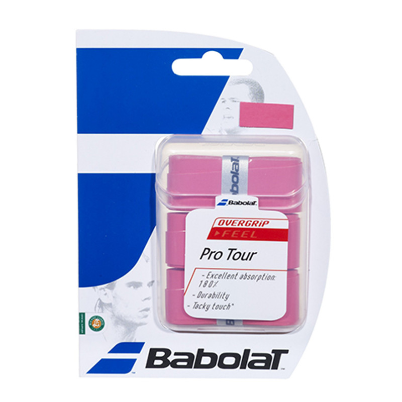 BABOLAT PRO TOUR PINK X 3