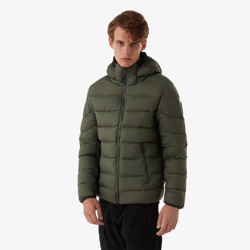 COLMAR Colmar TRICOLOUR DOWN JACKET WITH A LACQUERED INTERIOR