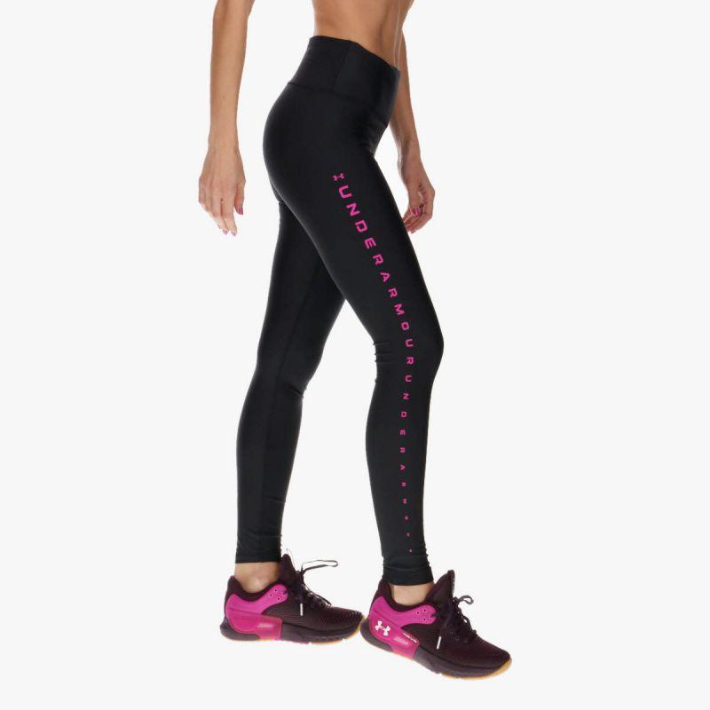 UNDER ARMOUR Women's HeatGear® Armour No-Slip Waistband Branded Full-Length Leggings