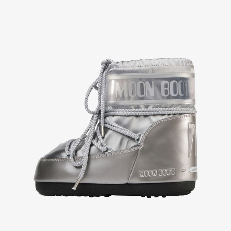 MOON BOOT MOON BOOT CLASSIC LOW GLANCE SILVER