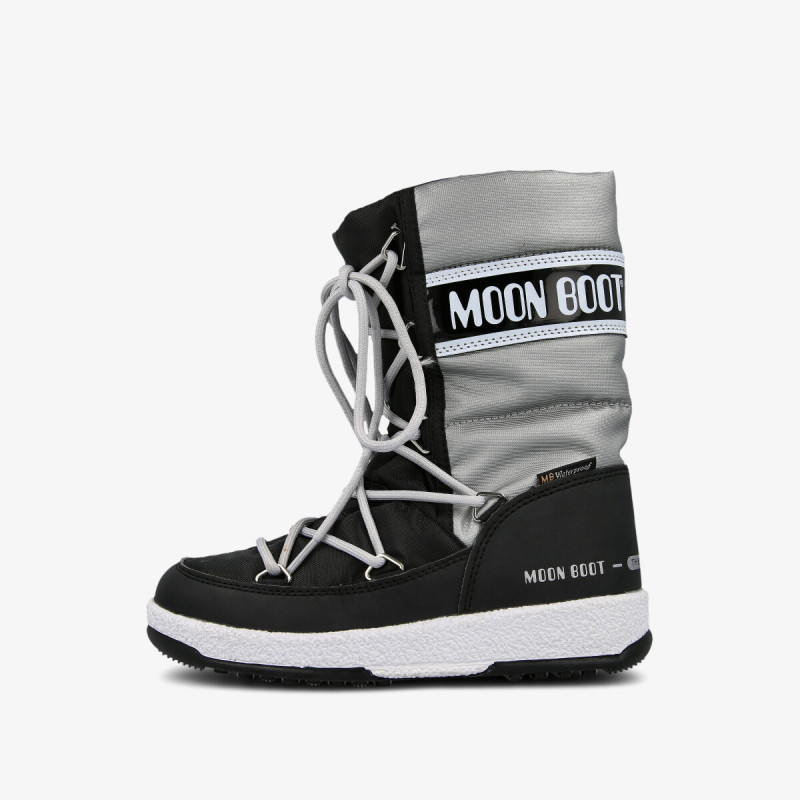MOON BOOT MOON BOOT JR G.QUILTED WP BLACK/SILVER