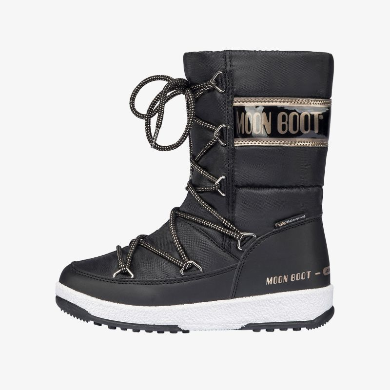 MOON BOOT MOON BOOT JR G.QUILTED WP BLACK/COPPER