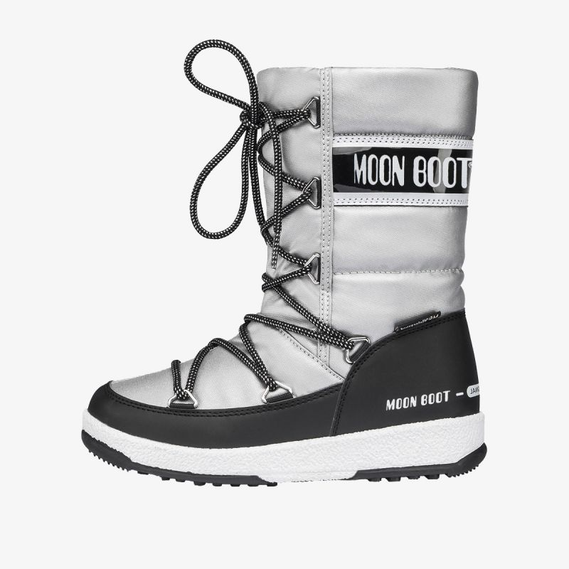 MOON BOOT MOON BOOT JR G.QUILTED WP SILVER/BLACK