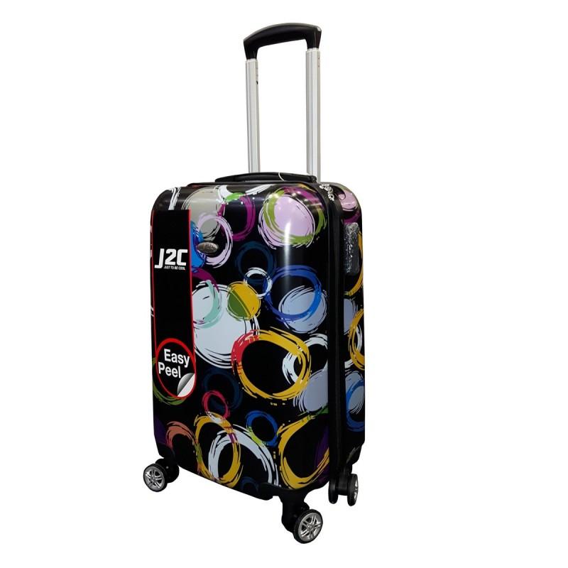 J2C J2C Circle Printed Hard Suitcase 26in