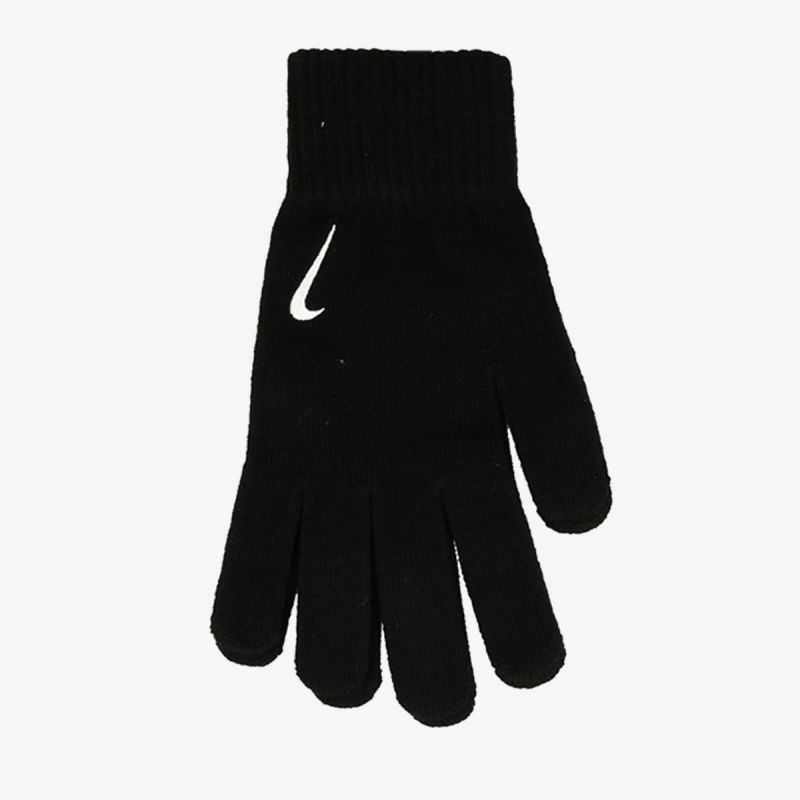NIKE NIKE SWOOSH KNIT GLOVES 2.0 BLACK/WHITE